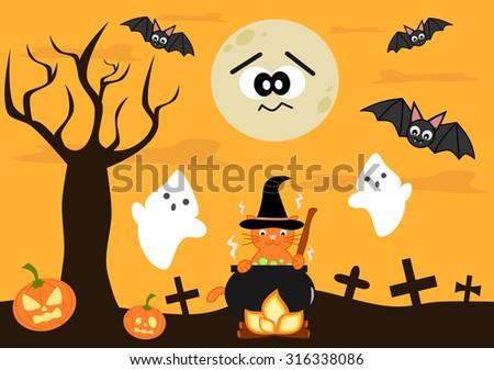cartoon halloween vector