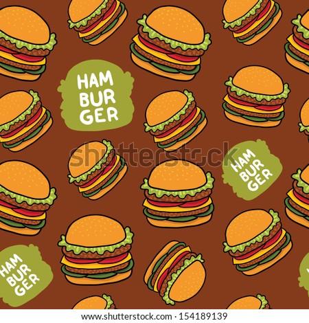 cartoon hamburger seamless