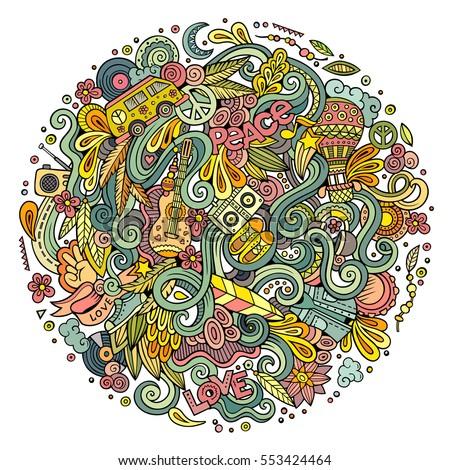 cartoon hand drawn doodles