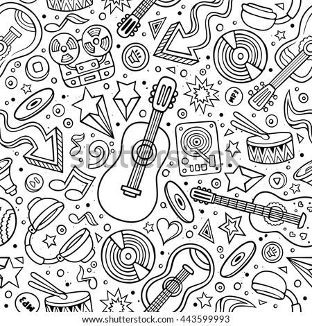 cartoon hand drawn musical