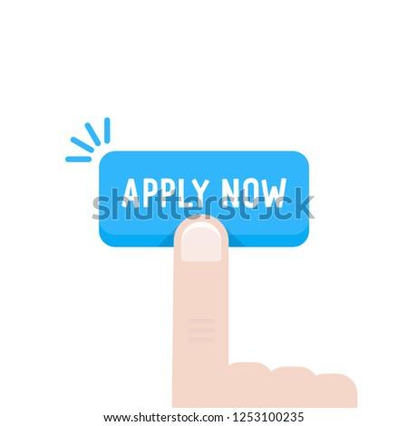 cartoon hand press on apply now