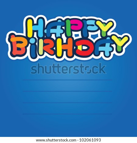 Cartoon Happy Birthday Cards Stock Vector 102061093 : S