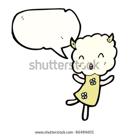 cartoon happy cloud head creature