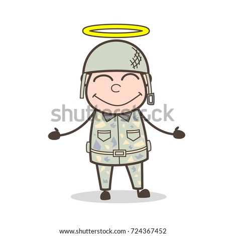 cartoon happy good army man