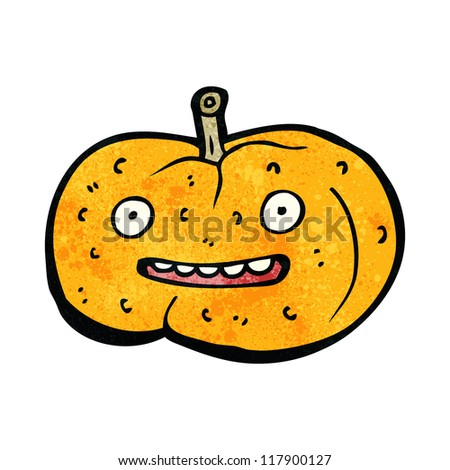 cartoon happy pumpkin