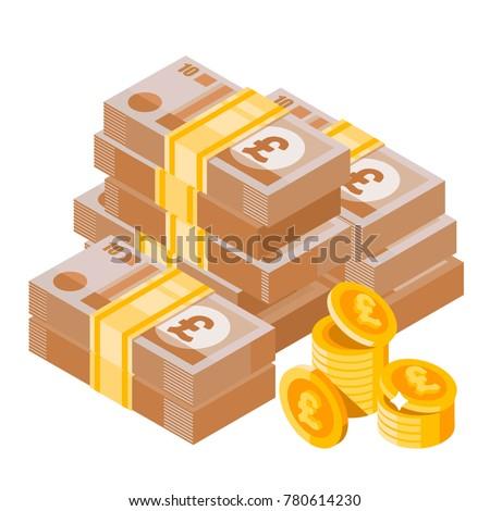 cartoon heap of pound sterling