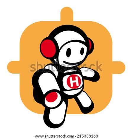 cartoon hero character icon