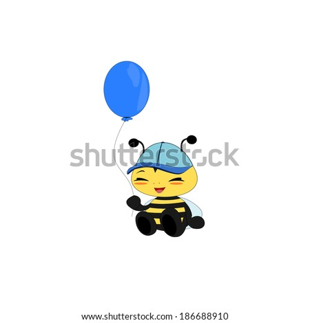 Baby bee cartoon