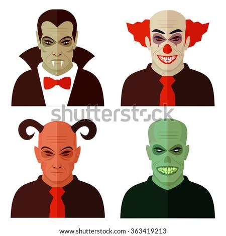 cartoon horror characters  evil