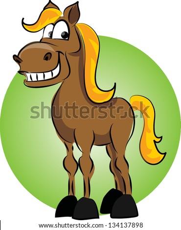 cartoon horse on green