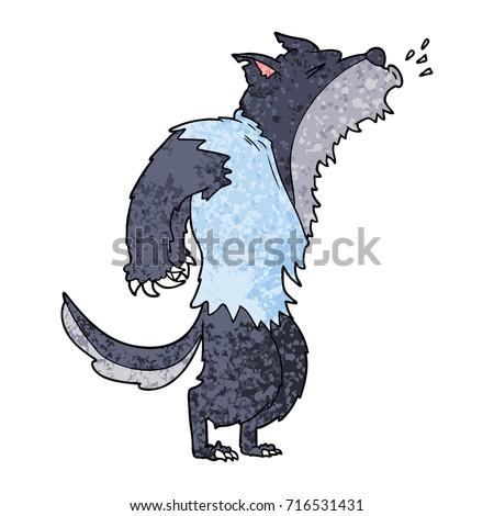 cartoon howling werewolf