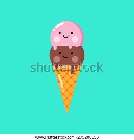 cartoon ice cream vector