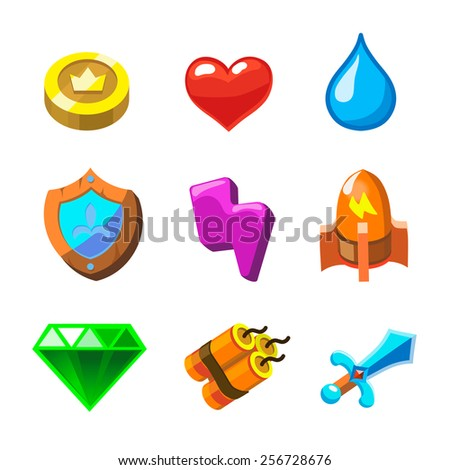 cartoon icons for game user