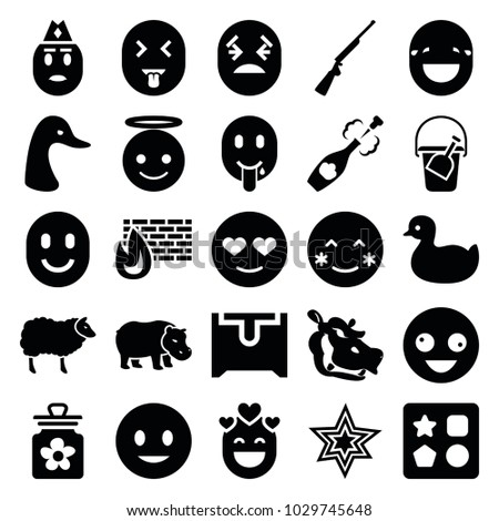cartoon icons set of 25