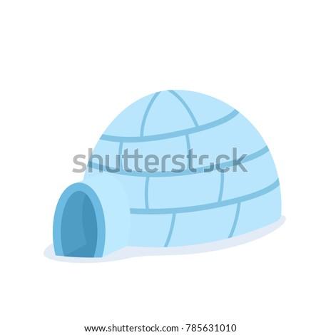 cartoon igloo icon vector