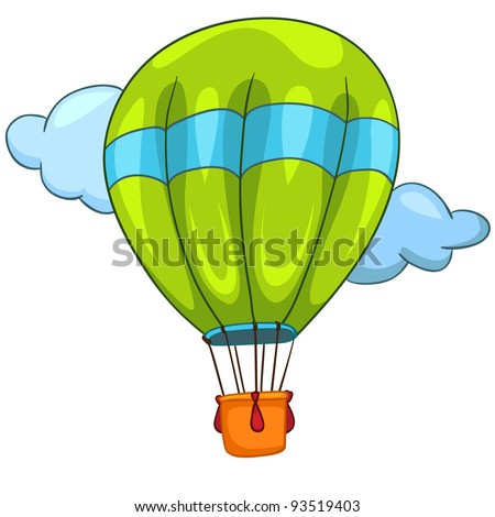Cartoon Illustration Balloon Isolated on White Background. Vector.