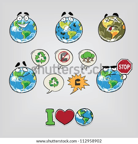 Cartoon illustration Earth