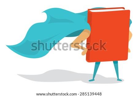 cartoon illustration of a book