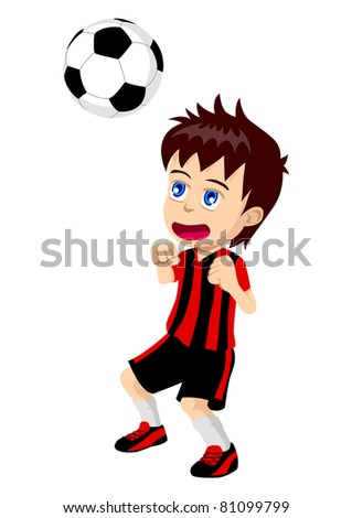 cartoon illustration of a kid
