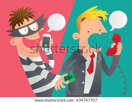 cartoon illustration of a phone