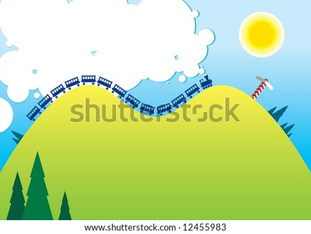cartoon illustration of a sunny