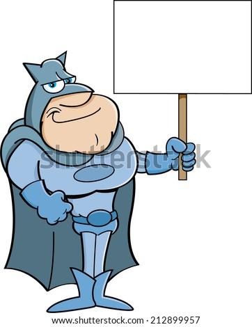 cartoon illustration of a super