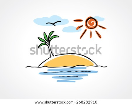 cartoon illustration of desert