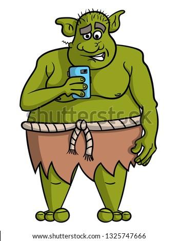 cartoon illustration of fat