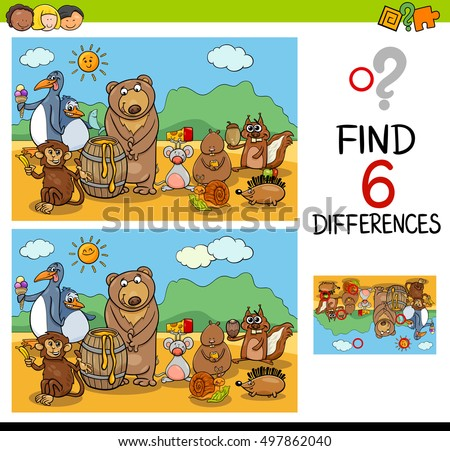 cartoon illustration of finding