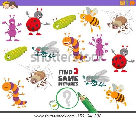 cartoon illustration of finding