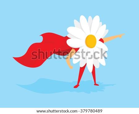cartoon illustration of flower