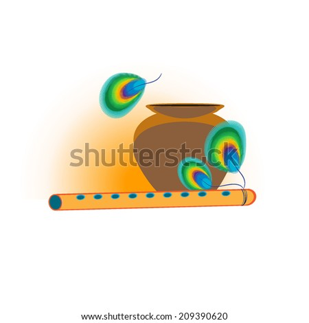 Krishna Flute Cartoon Cartoon Illustration of Flute