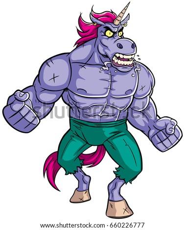 cartoon illustration of mad