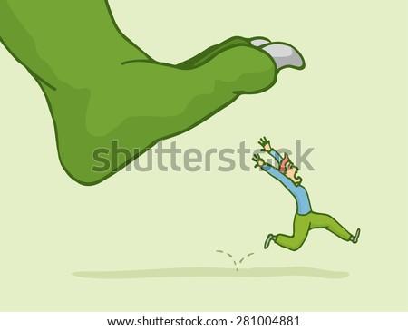 cartoon illustration of man in