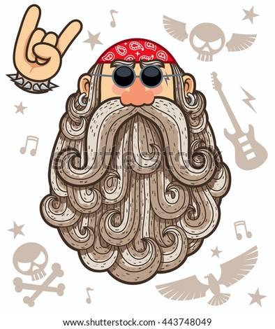 cartoon illustration of rocker