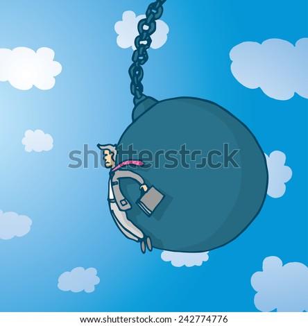 cartoon illustration of sad