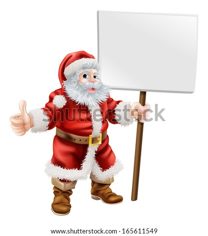stock-vector-cartoon-illustration-of-santa-holding-sign-and-doing-thumbs-up