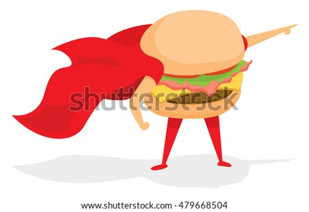 cartoon illustration of super
