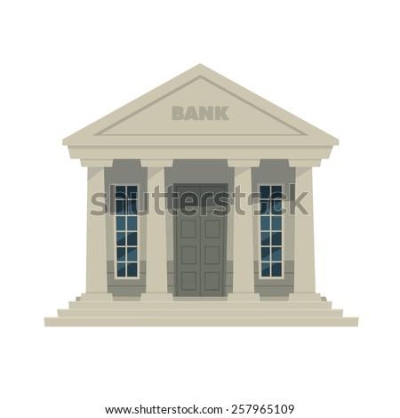 Cartoon illustration of the bank icon.