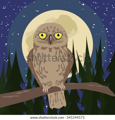 cartoon illustration of the owl