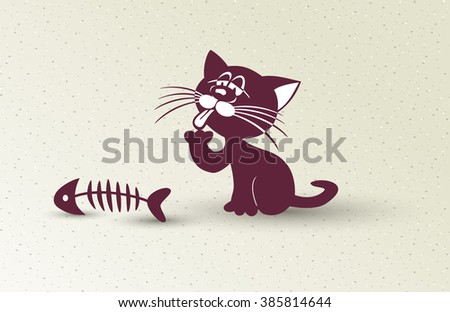 cartoon illustration with cat