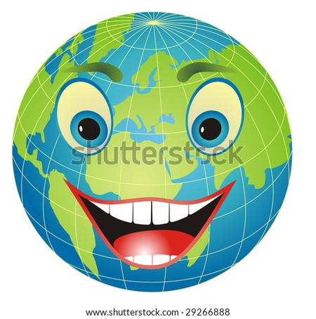Cartoon Pictures Of The Earth. stock vector : Cartoon
