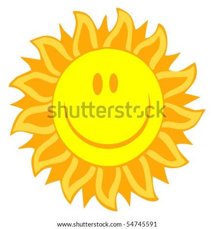 Cartoon Illustrations Of Smiling Sun