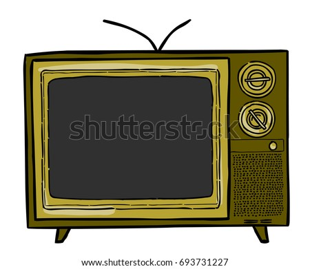 cartoon image of tv television