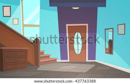 Cartoon Interior / Blue