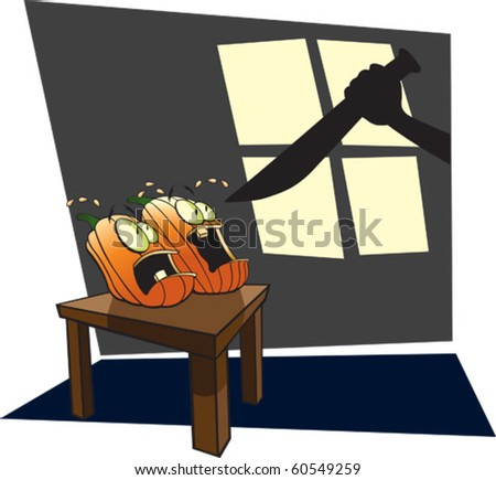 Cartoon Jack-O-Lantern. Layered vector file available.