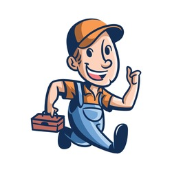 Cartoon Joe's Repair Mascot Logo