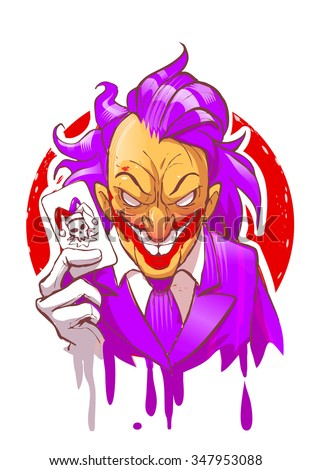 cartoon joker character smiling