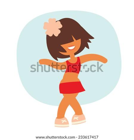 cartoon kid style sporty