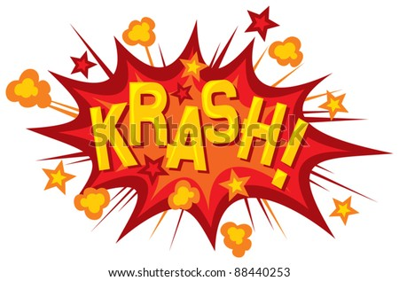 cartoon   krash  comic book
